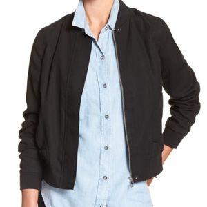 NWOT BANANA REPUBLIC black soft bomber jacket S
